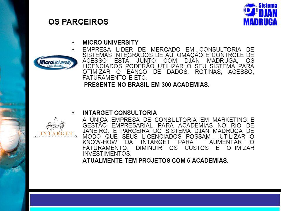 OS PARCEIROS MICRO UNIVERSITY EMPRESA LÍDER DE MERCADO EM CONSULTORIA DE SISTEMAS INTEGRADOS DE AUTOMAÇÃO E CONTROLE DE ACESSO ESTÁ JUNTO COM DJAN MAD