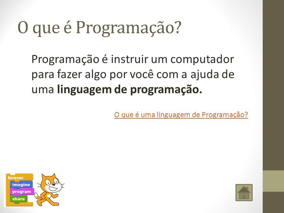 O que é Programação? Programação é instruir um computador para fazer algo por você com a ajuda de uma linguagem de programação. O que é uma linguagem