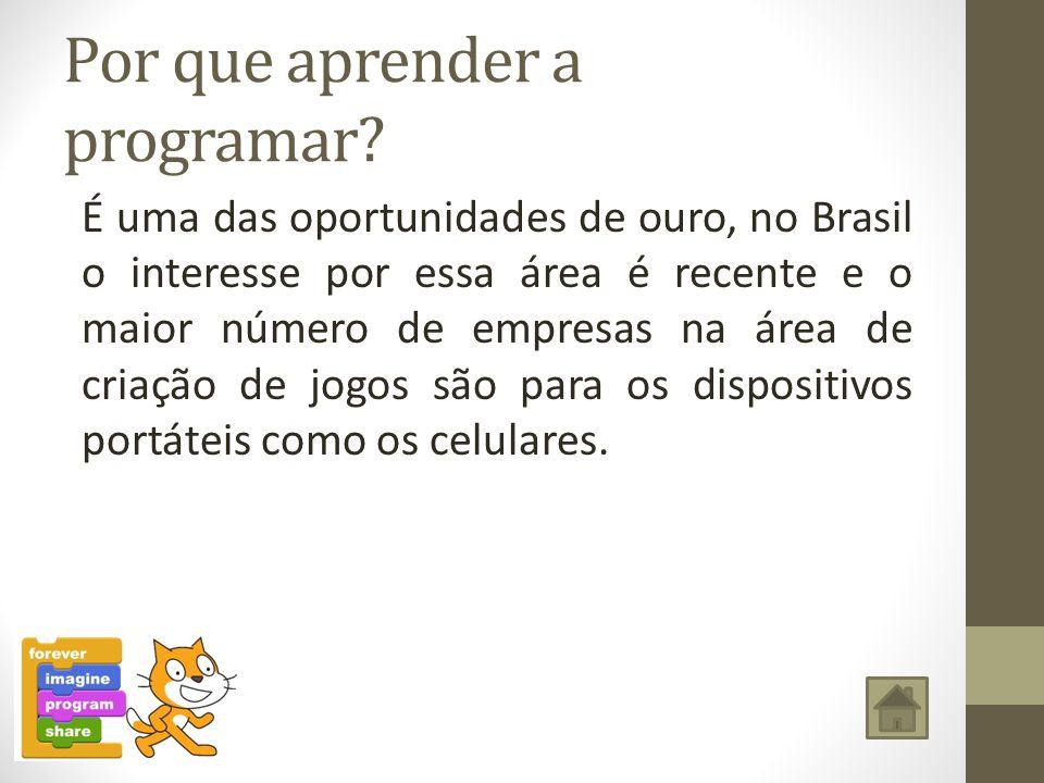 Por que aprender a programar? É uma das oportunidades de ouro, no Brasil o interesse por essa área é recente e o maior número de empresas na área de c