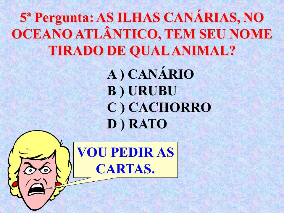 4ª Pergunta: QUAL ERA O PRIMEIRO NOME DO REI GEORGE VI.