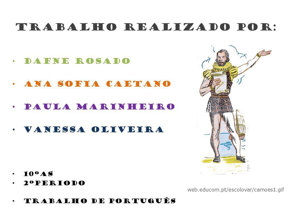 Trabalho realizado por: Dafne Rosado Ana Sofia CAETANO Paula Marinheiro Vanessa OLIVEIRA 10ºAS 2ºPeriodo Trabalho de Português web.educom.pt/escolovar