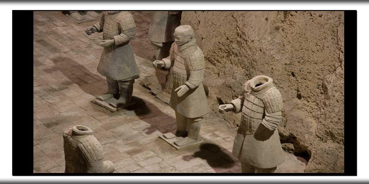 A segunda fossa aberta ao público contém 69 figuras e é conhecida como a fossa dos generais .