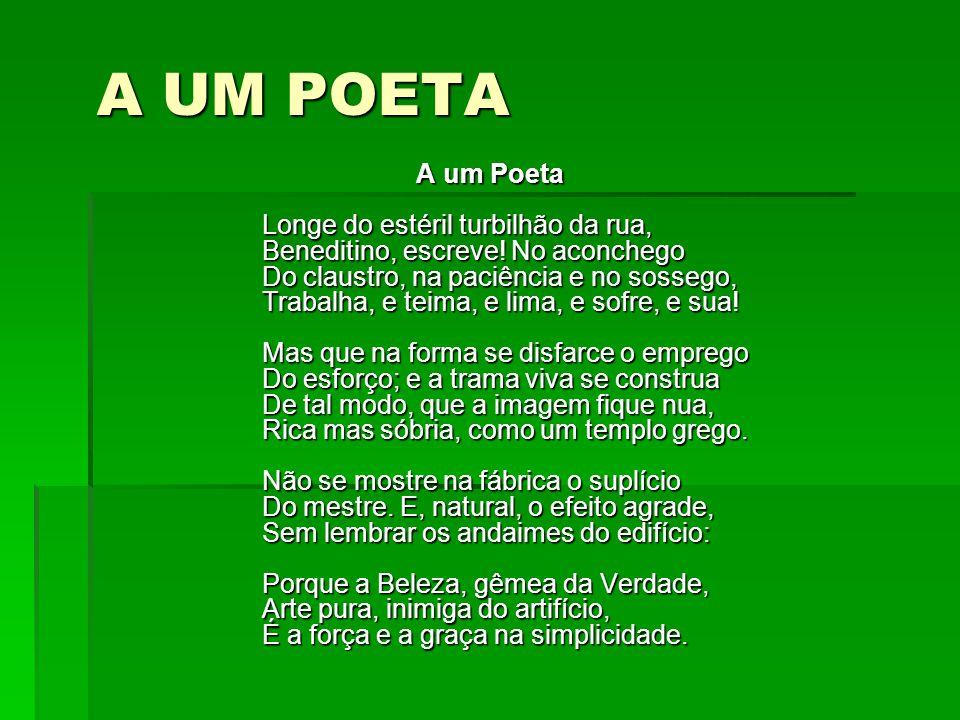 A UM POETA A um Poeta Longe do estéril turbilhão da rua, Beneditino, escreve.