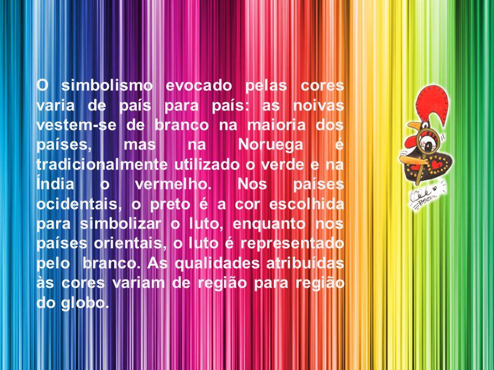 Texto redigido em conformidade com o Novo Acordo Ortográfico da Língua Portuguesa As cores inspiram sensações diversas, e representam símbolos, aos qu