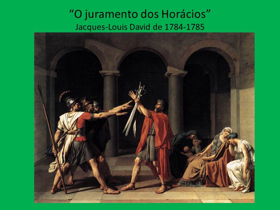 """""""O juramento dos Horácios"""" Jacques-Louis David de 1784-1785"""