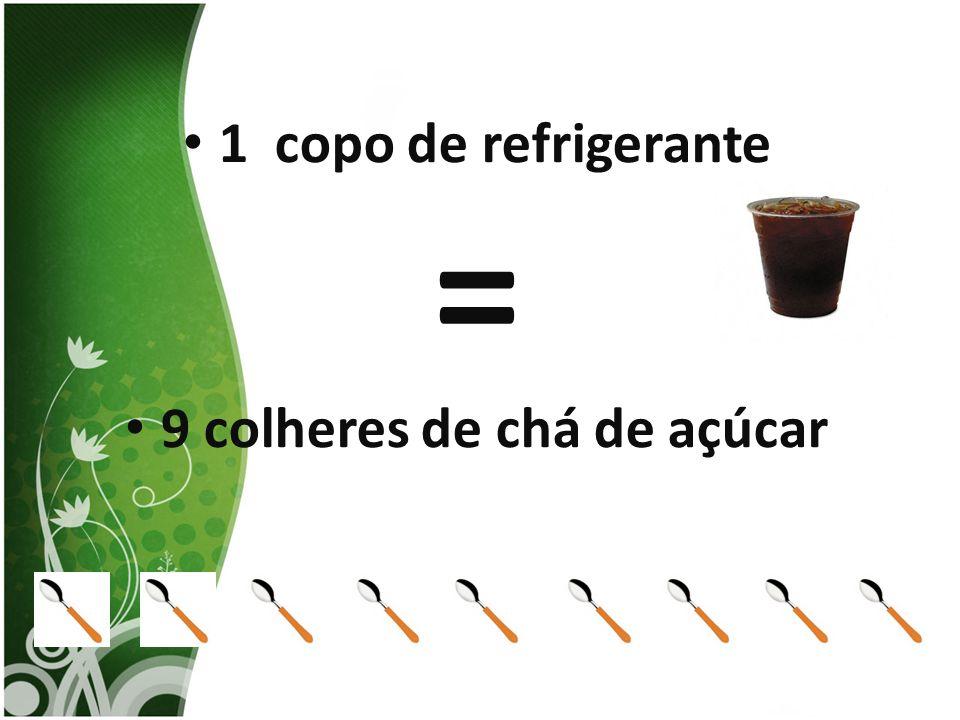 1 copo de refrigerante = 9 colheres de chá de açúcar