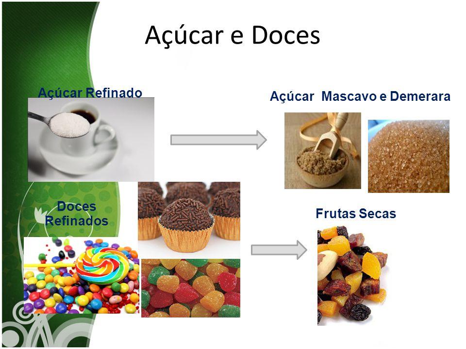 Açúcar e Doces Doces Refinados Açúcar Refinado Açúcar Mascavo e Demerara Frutas Secas