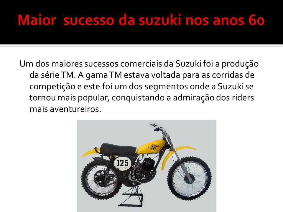 Um dos maiores sucessos comerciais da Suzuki foi a produção da série TM. A gama TM estava voltada para as corridas de competição e este foi um dos seg