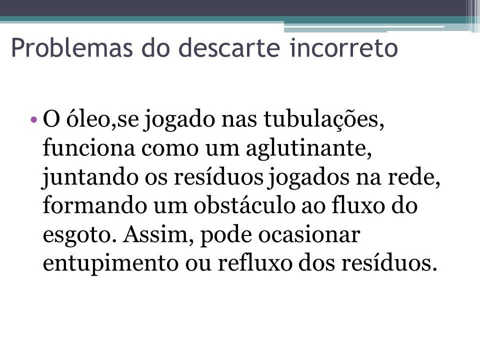 Figura 1:Problema originado do derramamento incorreto do óleo na tubulação Fonte:Programa Cidades e Soluções- Globo News 08/03/2009