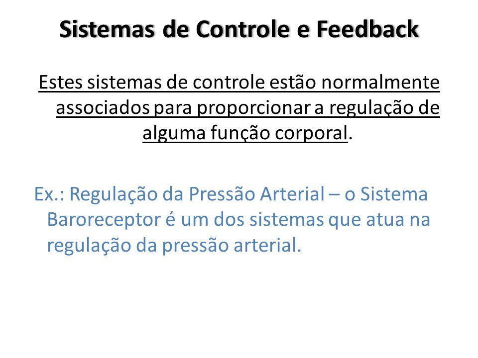 Sistemas de Controle e FeedbackSistemas de Controle e Feedback Estes sistemas de controle estão normalmente associados para proporcionar a regulação d
