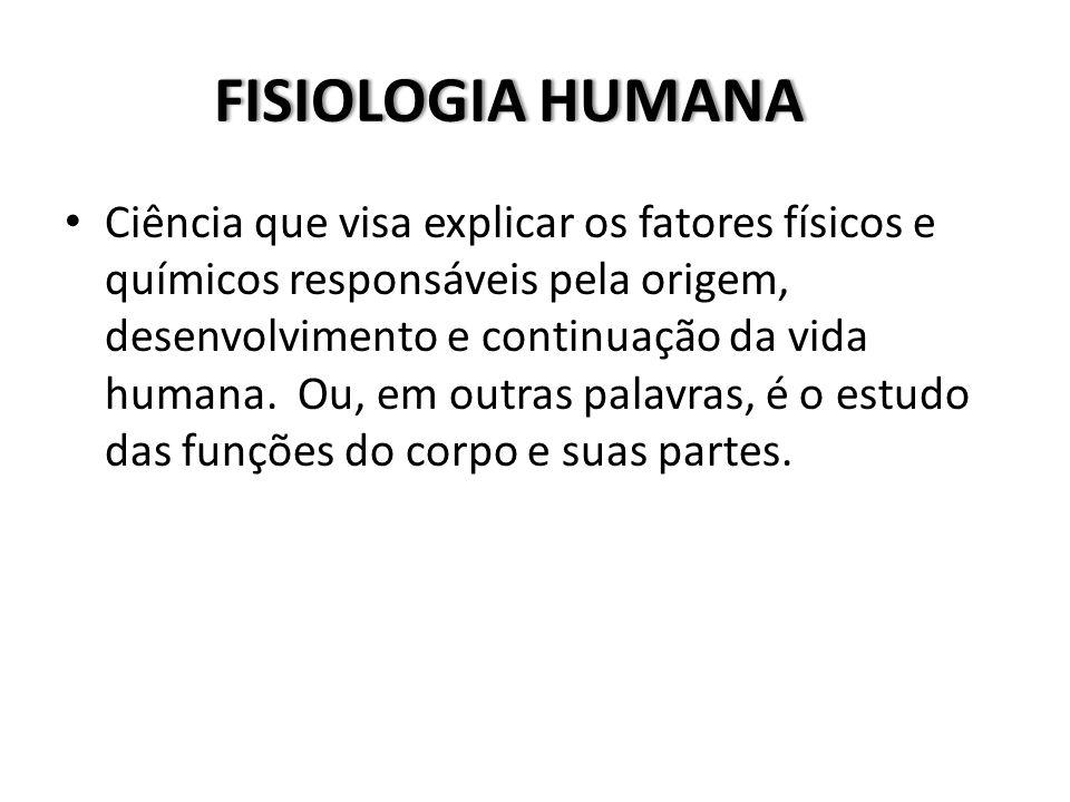 FISIOLOGIA HUMANAFISIOLOGIA HUMANA Ciência que visa explicar os fatores físicos e químicos responsáveis pela origem, desenvolvimento e continuação da