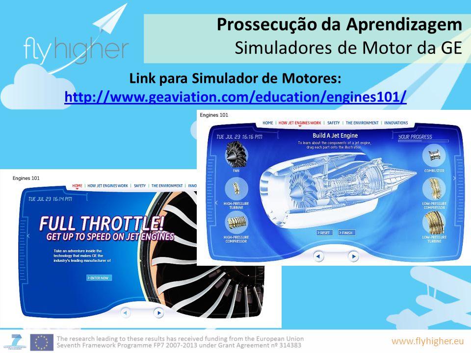 www.flyhigher.eu Link para Simulador de Motores: http://www.geaviation.com/education/engines101/ http://www.geaviation.com/education/engines101/ Pross