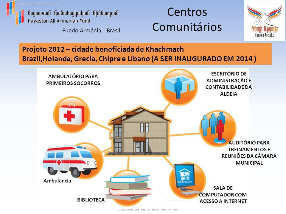 Fundo Armênia - Brasil Jcbboyadjian e jmariohadjinlian Centros Comunitários Projeto 2012 – cidade beneficiada de Khachmach Brazil,Holanda, Grecia, Chi