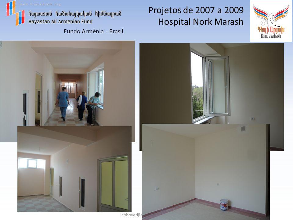 Fundo Armênia - Brasil Jcbboyadjian e jmariohadjinlian Projetos de 2010 e 2011 Agua é Vida KARIN DAG = INAUGURADO-2013 HARAV = A SER INAUGURADO EM 2014