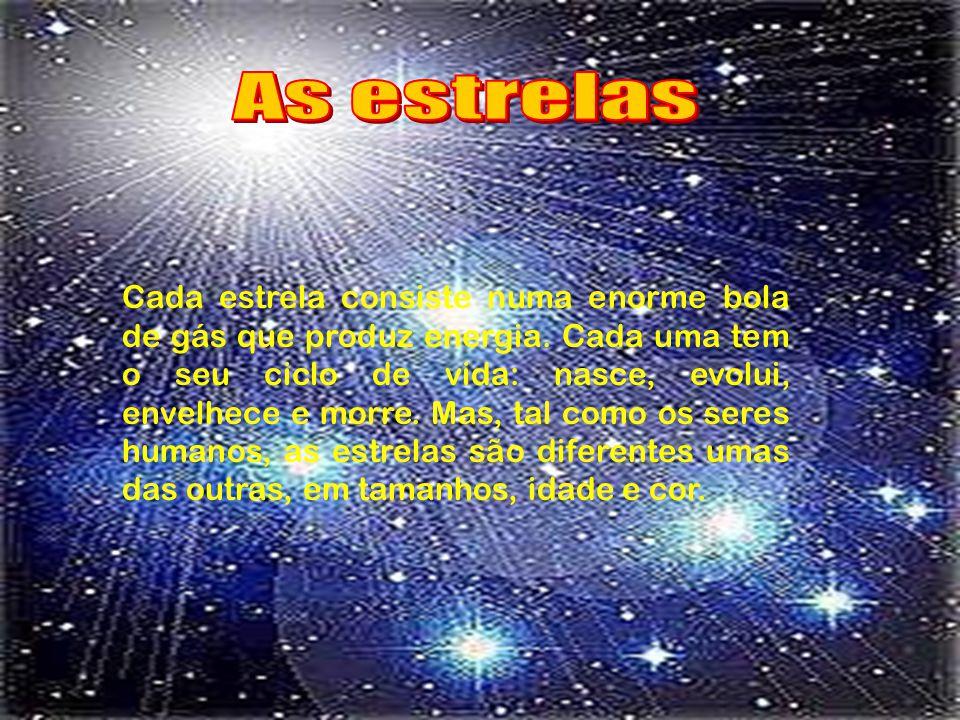 As estrelas nascem, geralmente, em zonas onde existem nuvens de gás suficientemente densas: os chamados berçários de estrelas.