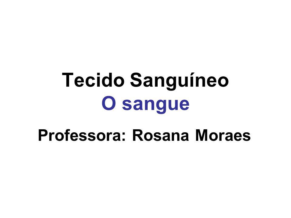 Tecido Sanguíneo O sangue Professora: Rosana Moraes