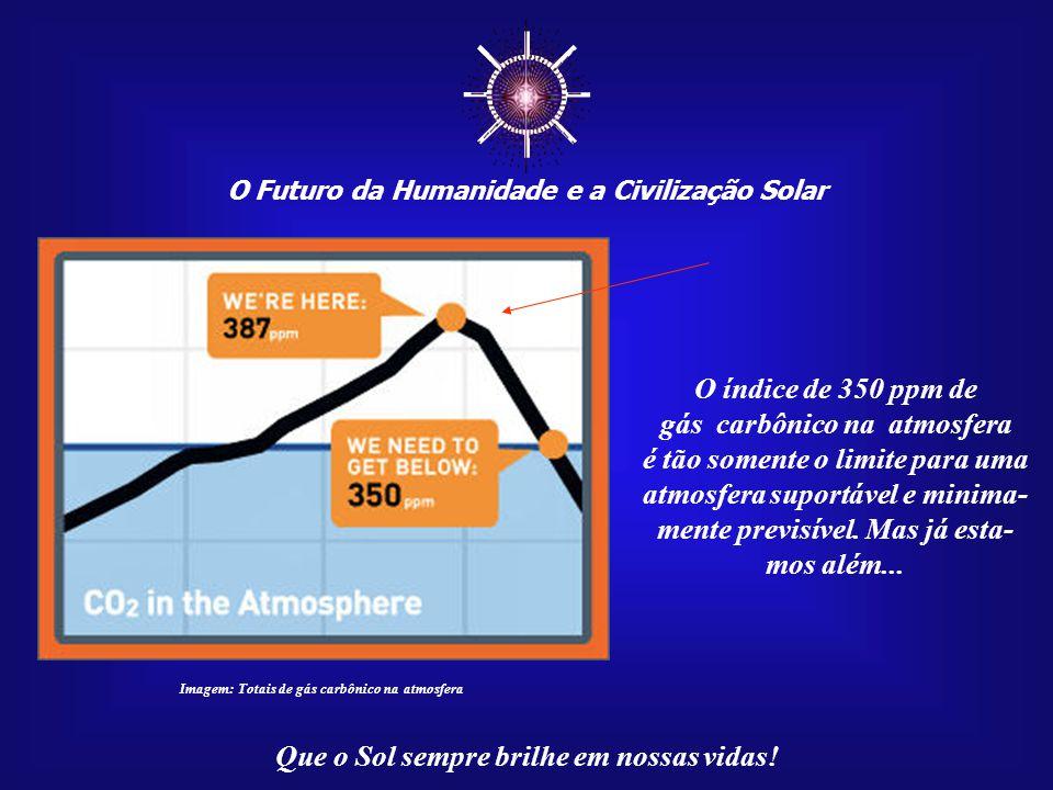 """☼ O Futuro da Humanidade e a Civilização Solar Que o Sol sempre brilhe em nossas vidas! """"Muita pressa"""" para conter o avanço dos gases-estufa (os prin-"""