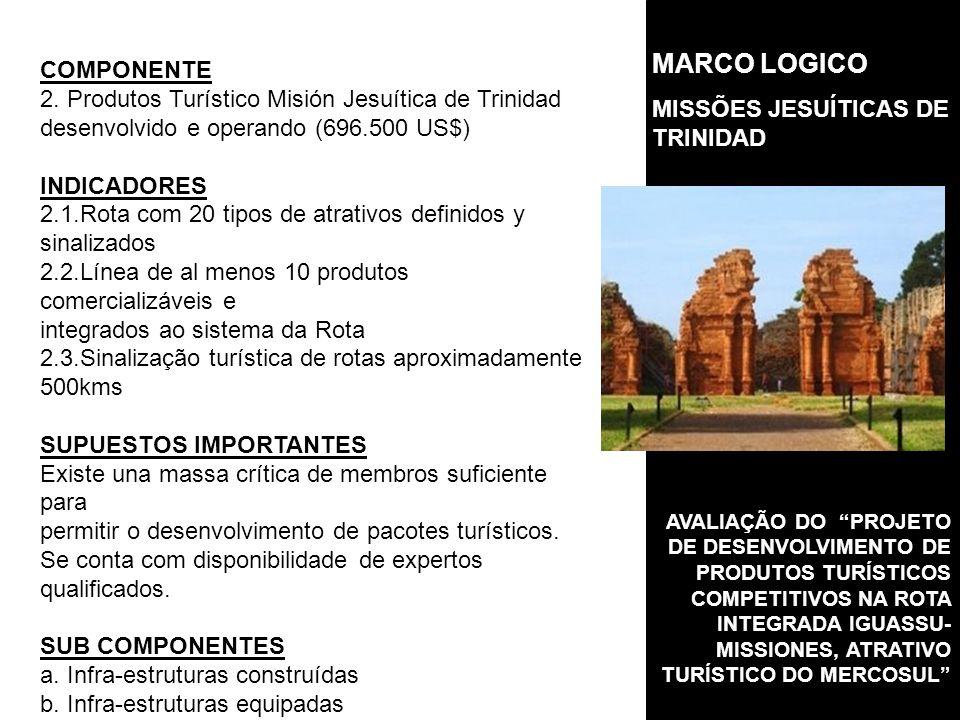 AVALIAÇÃO DO PROJETO DE DESENVOLVIMENTO DE PRODUTOS TURÍSTICOS COMPETITIVOS NA ROTA INTEGRADA IGUASSU- MISSIONES, ATRATIVO TURÍSTICO DO MERCOSUL COMPONENTE 2.