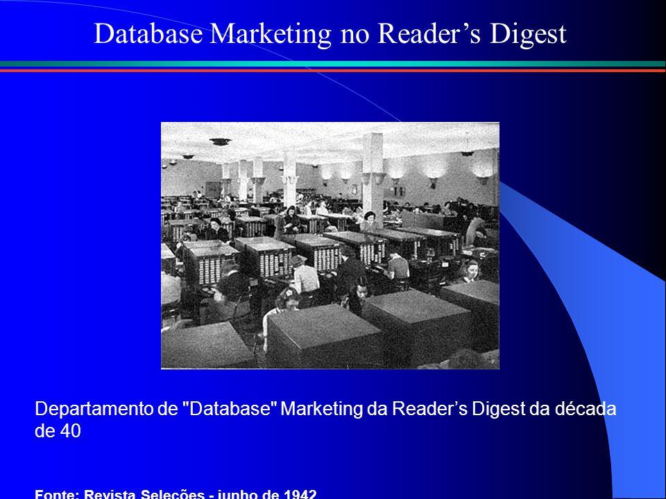 Departamento de Database Marketing da Reader's Digest da década de 40 Fonte: Revista Seleções - junho de 1942 Database Marketing no Reader's Digest
