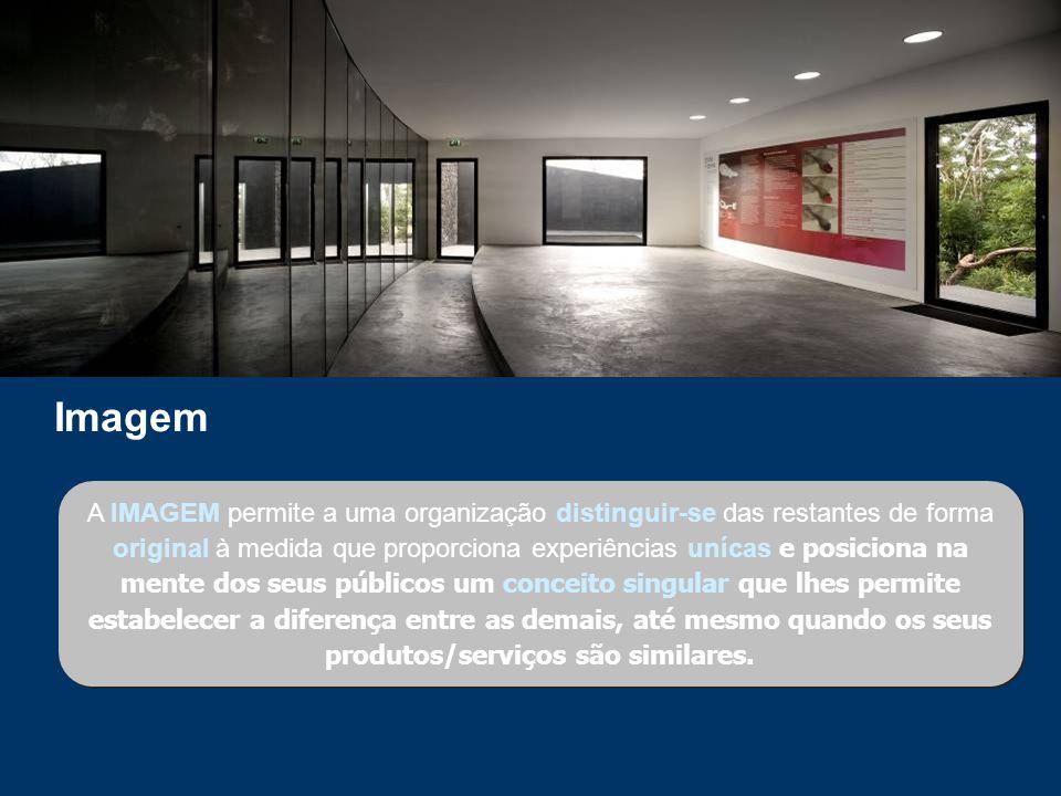 A IMAGEM permite a uma organização distinguir-se das restantes de forma original à medida que proporciona experiências unícas e posiciona na mente dos