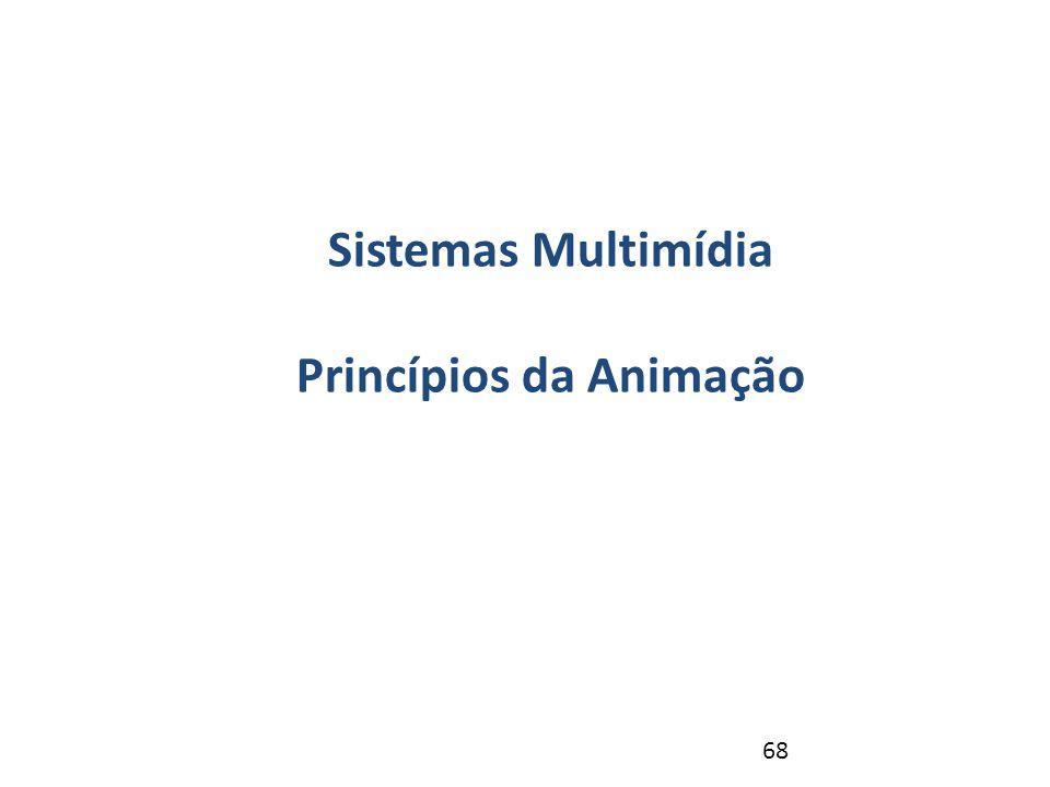 68 Revisão – NP1 Sistemas Multimídia Princípios da Animação