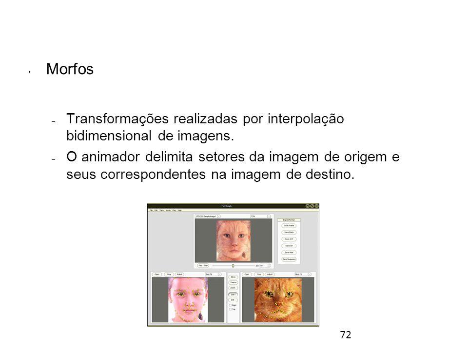 72 Morfos – Transformações realizadas por interpolação bidimensional de imagens.
