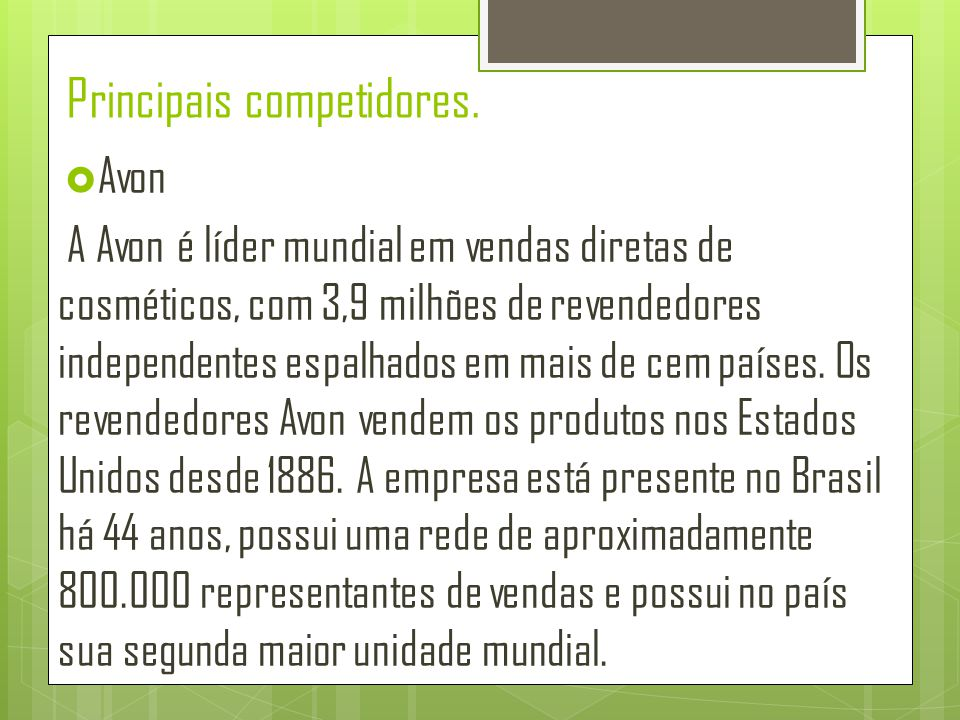  Nívea Em 2000, a Nívea Brasil, parte do grupo alemão Beiersdorf, anunciou investimentos de R$24 milhões para o lançamento da sua linha de maquiagem Nívea Beauté, já vendida na época na Europa.