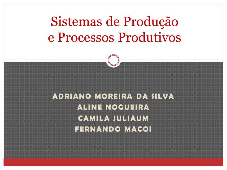 ADRIANO MOREIRA DA SILVA ALINE NOGUEIRA CAMILA JULIAUM FERNANDO MACOI Sistemas de Produção e Processos Produtivos
