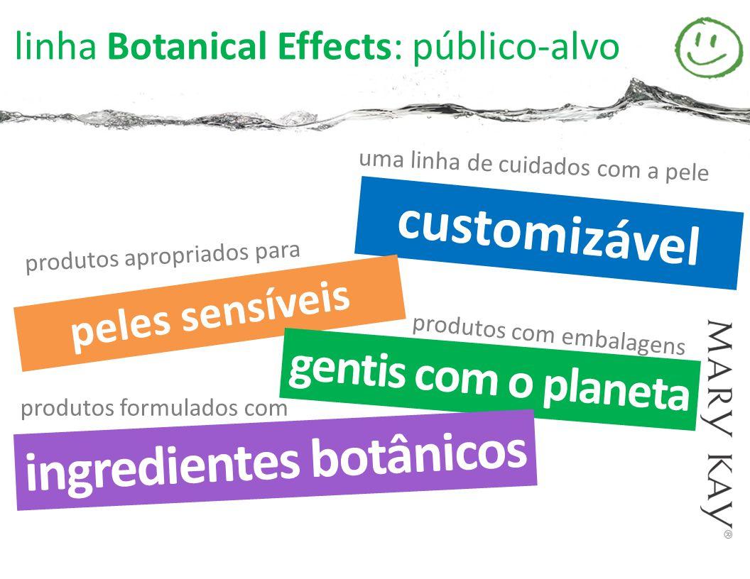 linha Botanical Effects: público-alvo produtos apropriados para produtos com embalagens produtos formulados com customizável uma linha de cuidados com