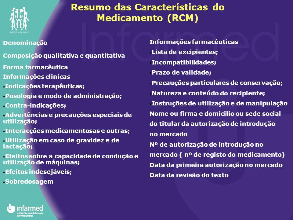 Denominação Composição qualitativa e quantitativa Forma farmacêutica Informações clinicas  Indicações terapêuticas;  Posologia e modo de administraç