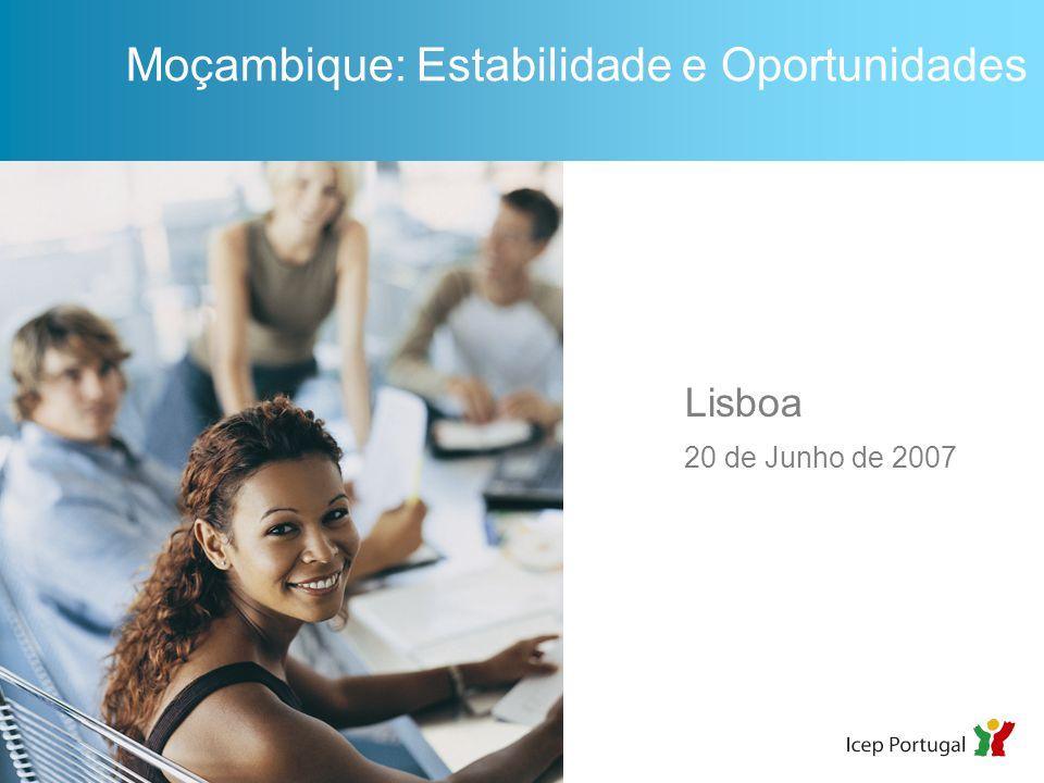 Lisboa 20 de Junho de 2007 Moçambique: Estabilidade e Oportunidades
