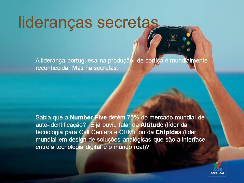 lideranças secretas A liderança portuguesa na produção de cortiça é mundialmente reconhecida. Mas há secretas. Sabia que a Number Five detém 75% do me