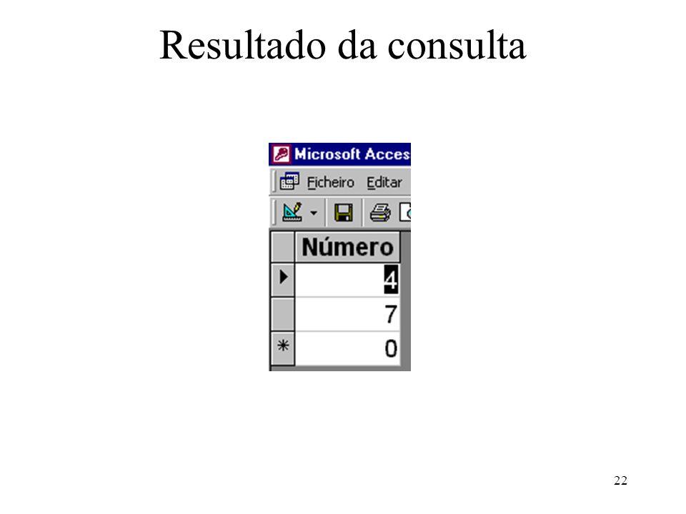 22 Resultado da consulta