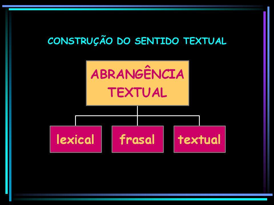 CONSTRUÇÃO DO SENTIDO TEXTUAL