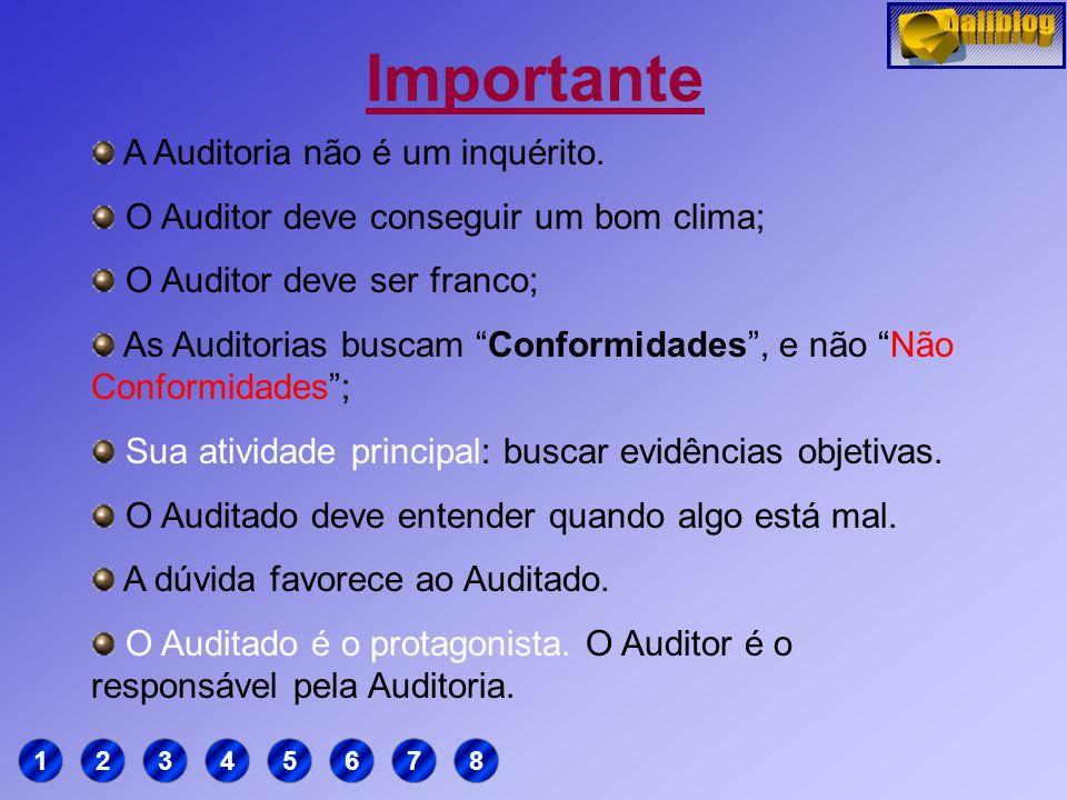 Definição Auditoria: Processo sistemático, independente e documentado para se obter evidências e avaliá-las de forma objetiva, com a finalidade de det