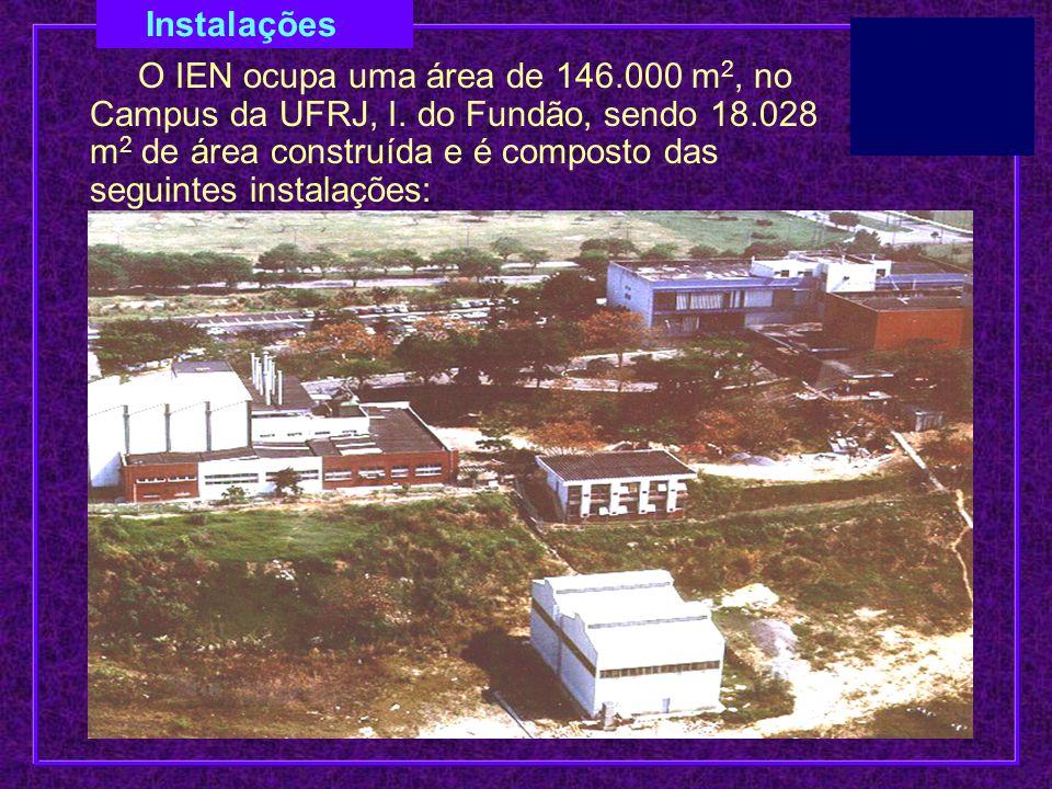 Instalações O IEN ocupa uma área de 146.000 m 2, no Campus da UFRJ, I. do Fundão, sendo 18.028 m 2 de área construída e é composto das seguintes insta