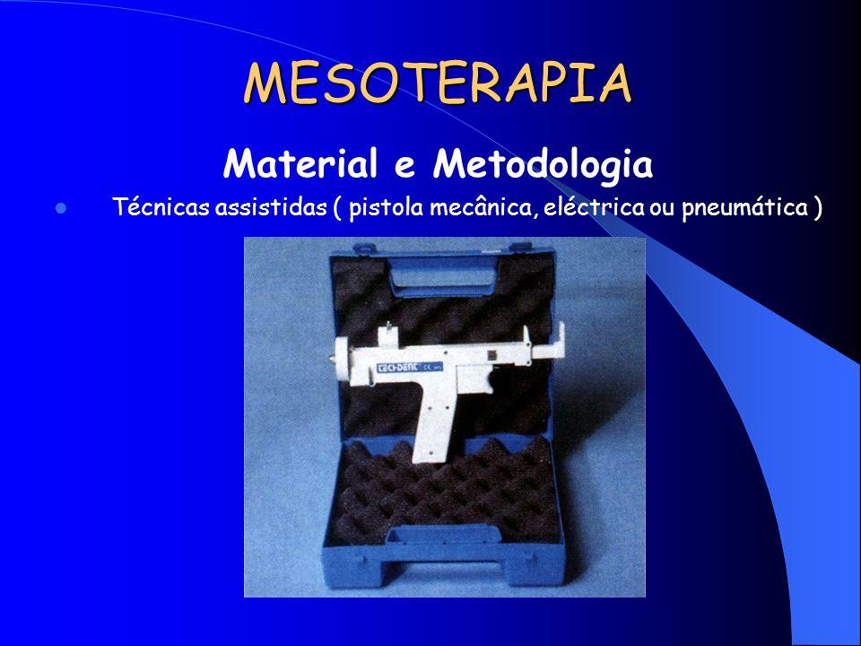 MESOTERAPIA Material e Metodologia Técnicas assistidas ( pistola mecânica, eléctrica ou pneumática )