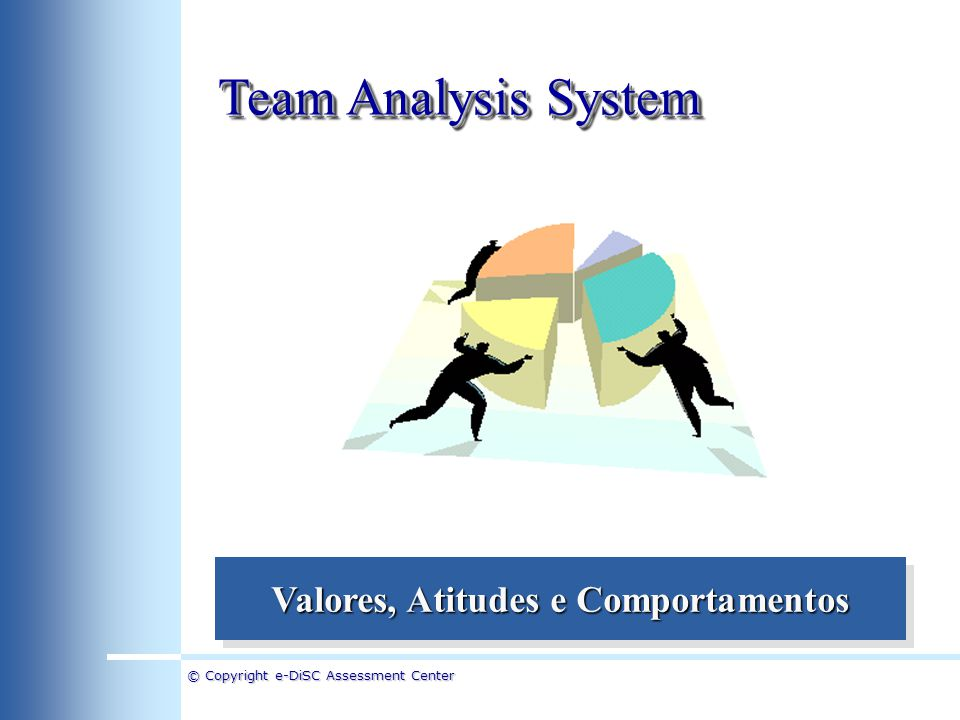 © Copyright e-DiSC Assessment Center Team Analysis System Formação de Times de Alta Performance