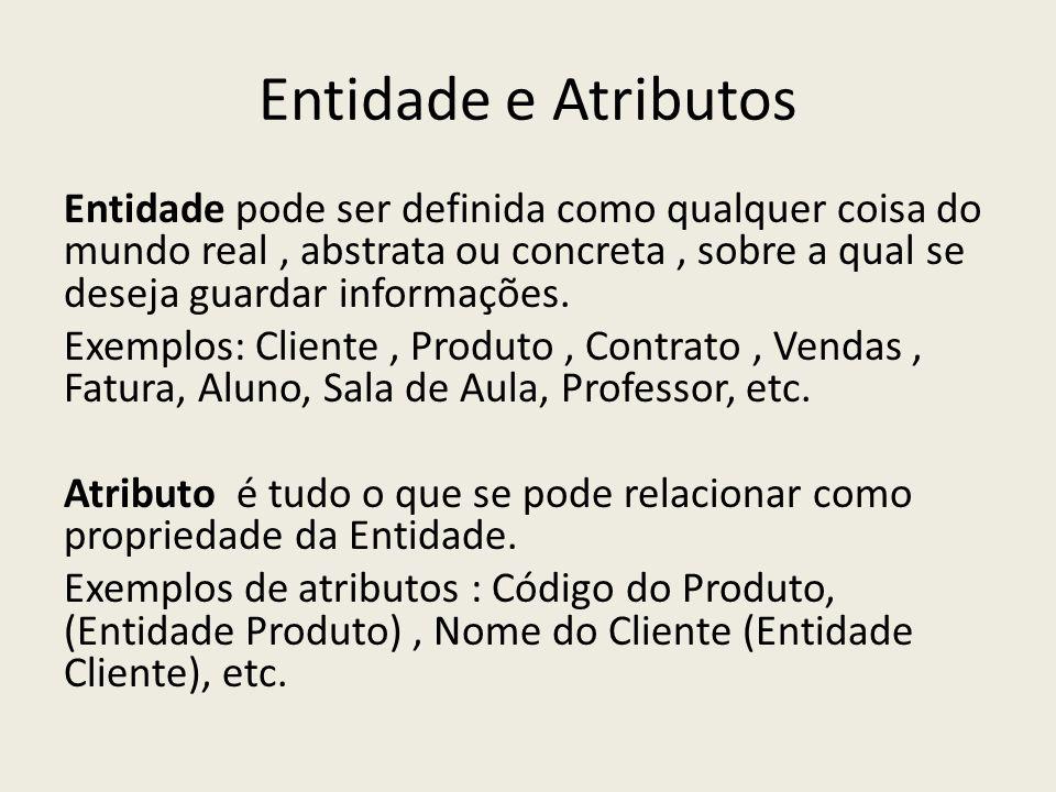 Entidade e Atributos