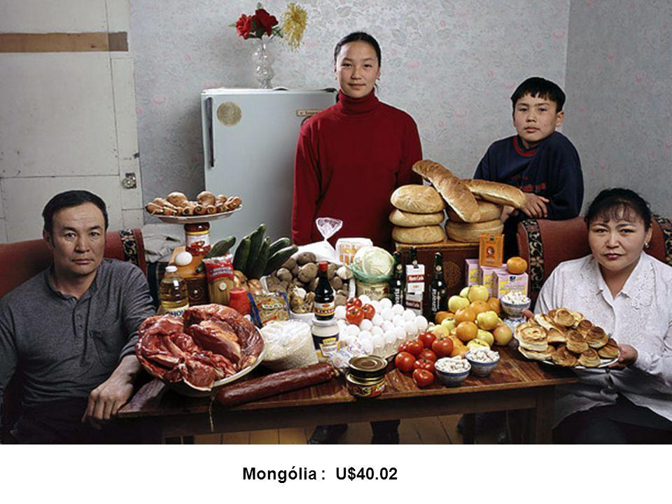 Mongólia : U$40.02