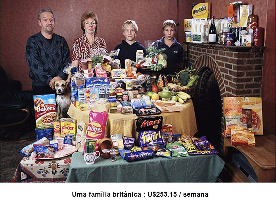 Uma família britânica : U$253.15 / semana