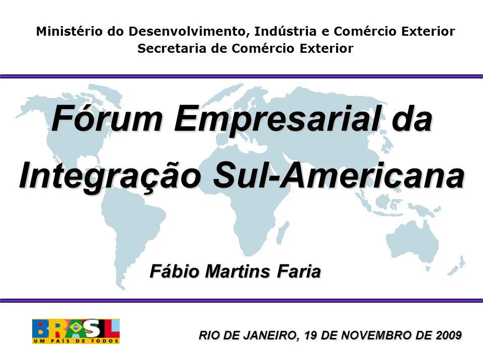 Ministério do Desenvolvimento, Indústria e Comércio Exterior Secretaria de Comércio Exterior Fórum Empresarial da Integração Sul-Americana Fábio Marti