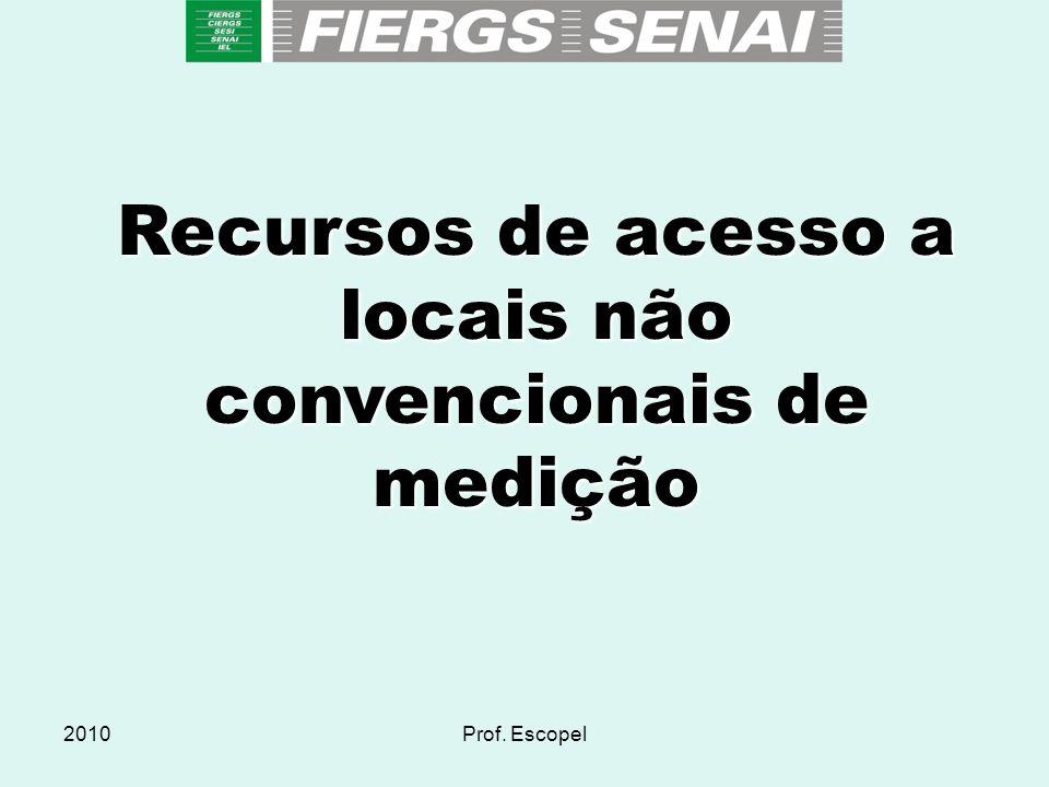 2010Prof. Escopel Recursos de acesso a locais não convencionais de medição