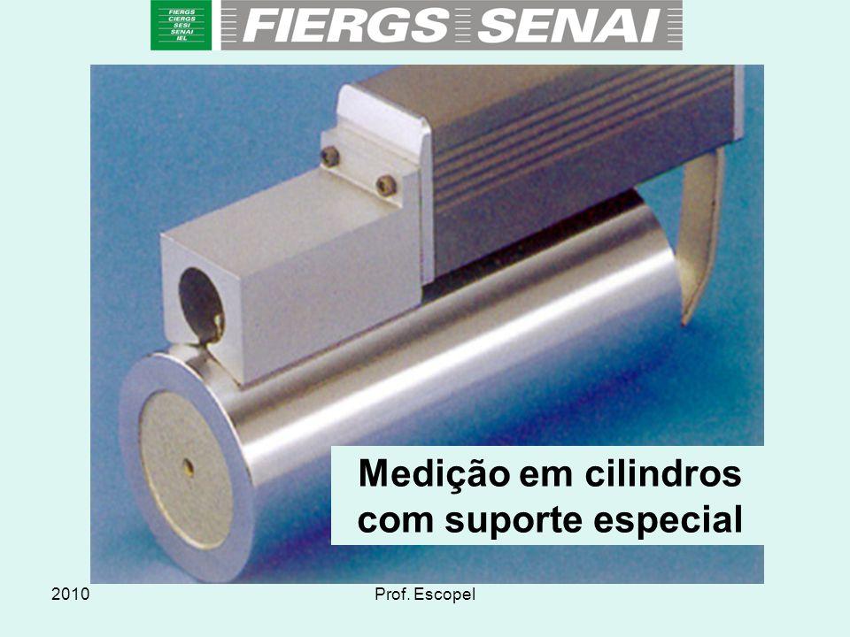 2010Prof. Escopel Medição em cilindros com suporte especial