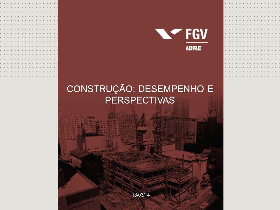 Sondagem da Construção 18/03/14 CONSTRUÇÃO: DESEMPENHO E PERSPECTIVAS