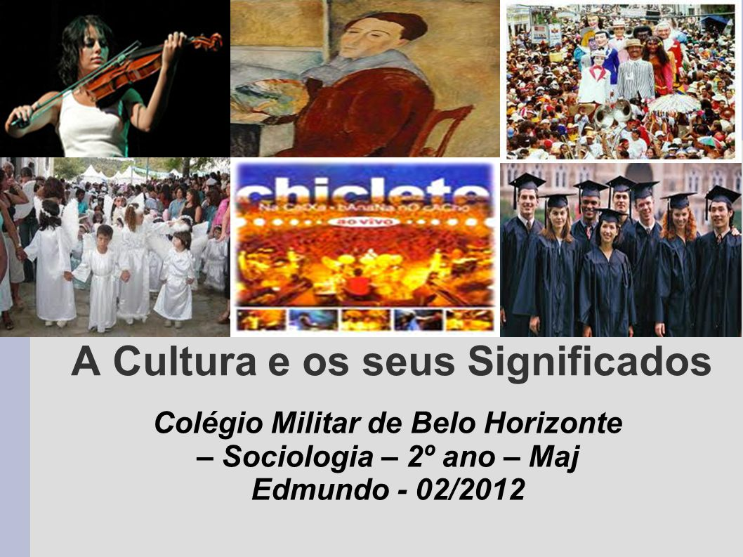 Objetivos a.Explicar os diferentes significados de cultura.