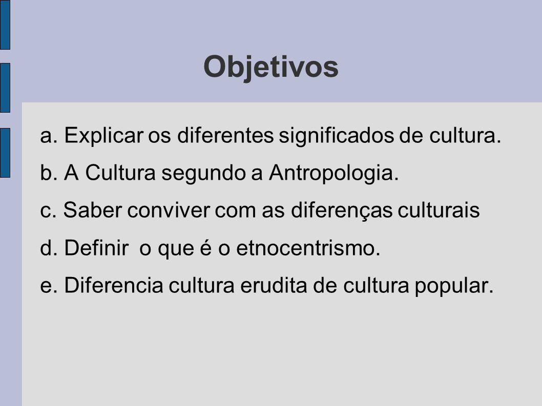 A Universalidade e a Particularidade da Cultura.