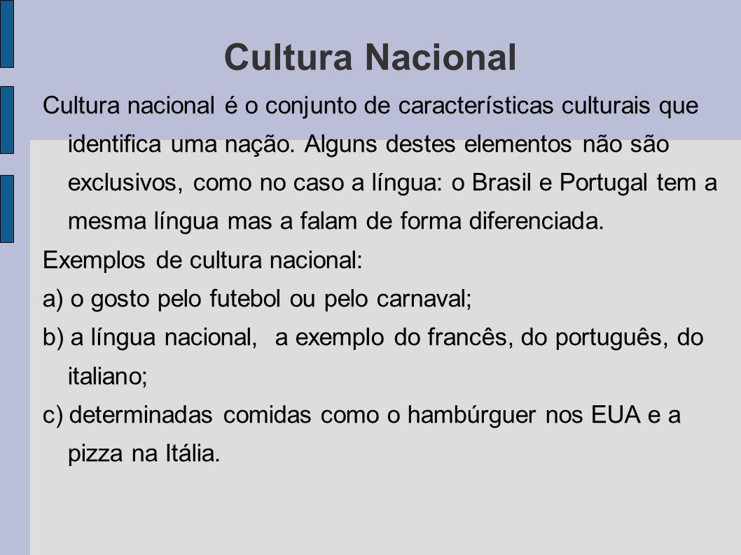 Complexo Cultural Combinação de traços culturais em torno de uma atividade básica, por exemplo: o carnaval (samba, frevo, trio elétrico, desfiles, ornamentação, figuras carnavalesca, etc.).