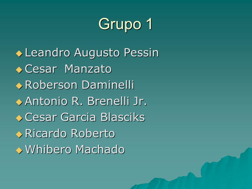 Grupo 1  Leandro Augusto Pessin  Cesar Manzato  Roberson Daminelli  Antonio R. Brenelli Jr.  Cesar Garcia Blasciks  Ricardo Roberto  Whibero Ma