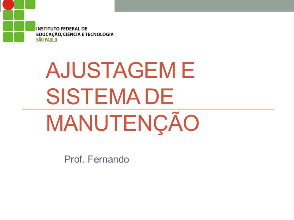 AJUSTAGEM E SISTEMA DE MANUTENÇÃO Prof. Fernando